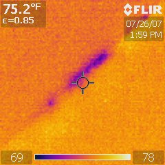 Infrared Thermal Analysis: Basement Wall Leak