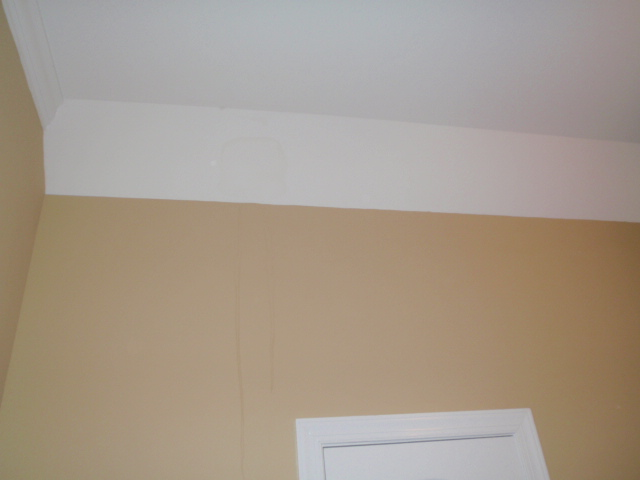 Bare vision view: Ceiling Leak Below Roof Valley